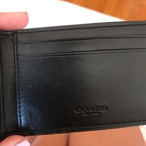 Coach Other - Coach bi fold card insert holder